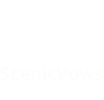 Scenic Vows logo in white